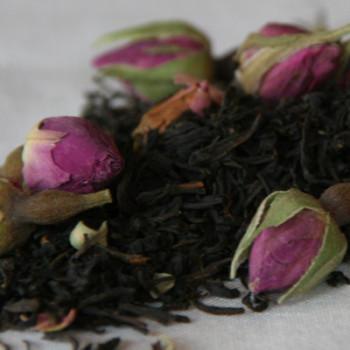 Black Keemun and Rosebuds Tea